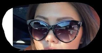 sunglasses oversized sunglasses cat eye