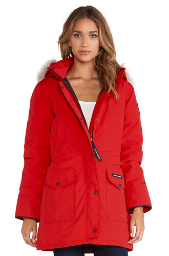 parka fur red