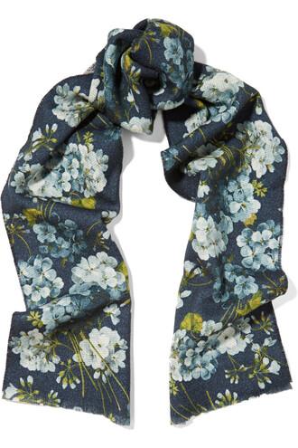 scarf wool blue