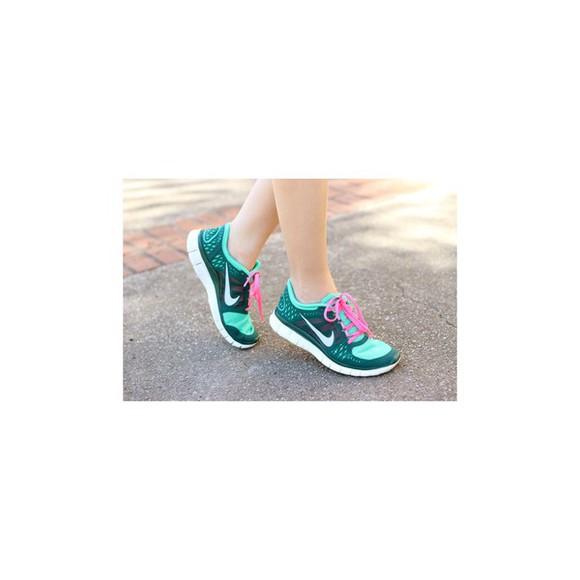 blue shoes rose nike free run shoes nike dark blue turquoise cool nice