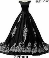 dress,black,black dress,ballgown skirt,black and white,ballgown wedding dress