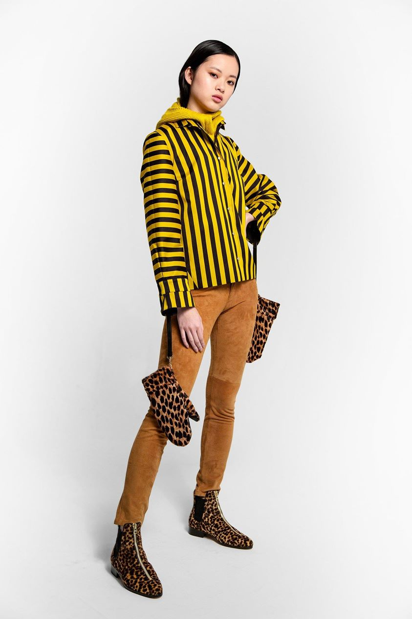 Coco jacket in bee stripes | Heimstone