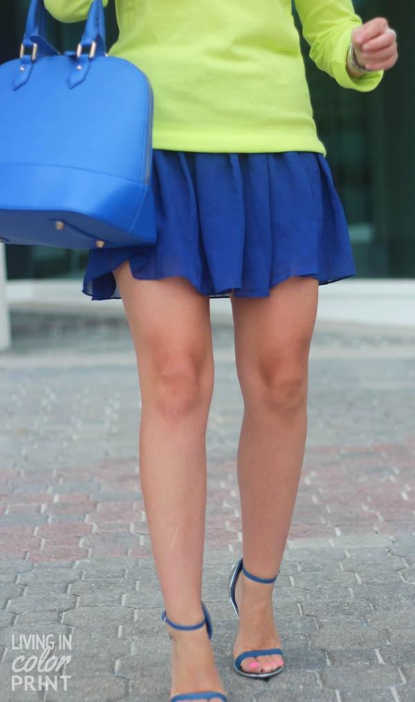Candy Color Skater Skirt - OASAP.com