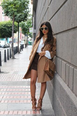 style by nelli blogger coat jacket skirt blouse bag