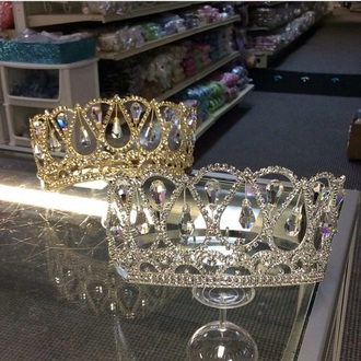 hair accessory crown silver gold