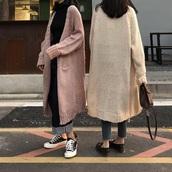 cardigan,pink,girly,knit,knitwear,knitted cardigan,long,long cardigan