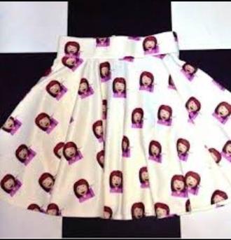 skirt white skirt emoji pants