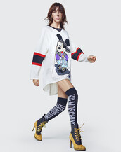 dress,h&m,moschino x h&m,jersey dress,moschino