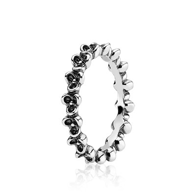 Oxidised Silver Flower Ring - 190849 - Rings | PANDORA