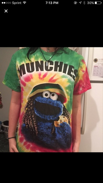 shirt munchies weed rasta red green yellow tumblr trendy black nike adidas vans