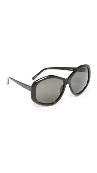 geometric sunglasses black grey
