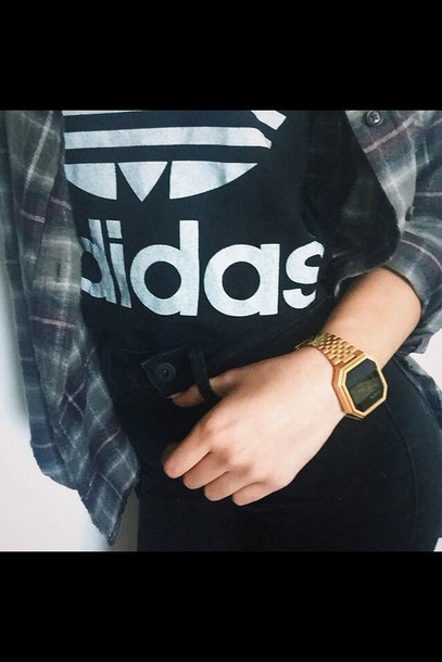 jewels gold watch adidas