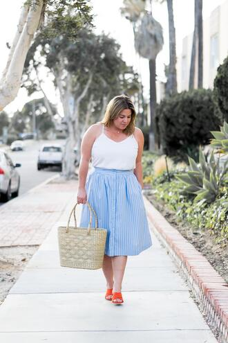 barefootinla blogger jewels tank top skirt bag