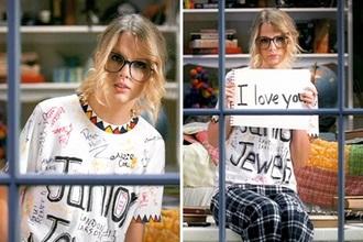 pajamas taylor swift t-shirt