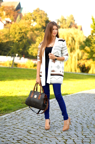 only my fashion style blogger cardigan jeans shoes bag
