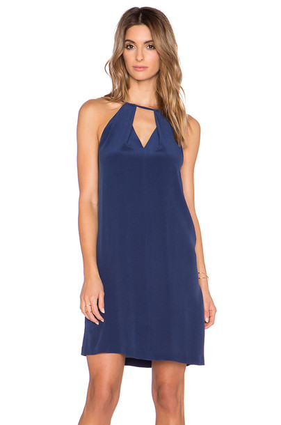 LA Made dress slip dress blue
