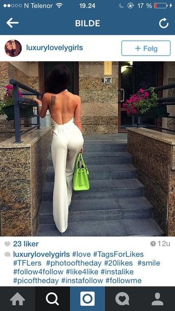 jumpsuit white jumpsuit open back dresses open back jumpsuit