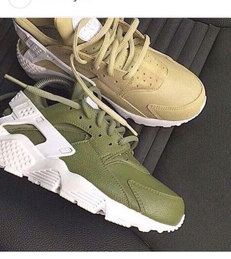 socks huarache nike air huaraches army green gold