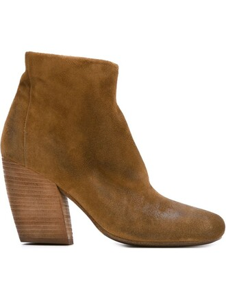 heel chunky heel boots ankle boots nude shoes