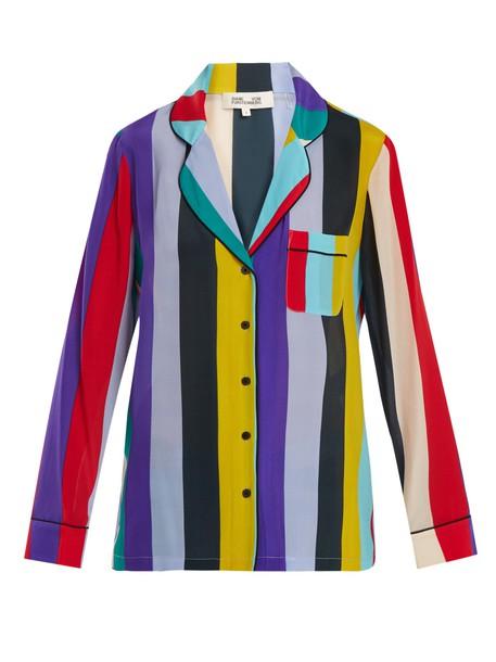 Diane Von Furstenberg top chiffon long silk