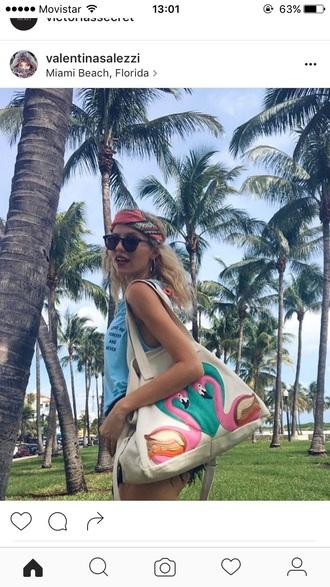 bag miami beach summer spring handbag cool tumblr nature weheartit grunge girl style fashion california sunshine beach bag