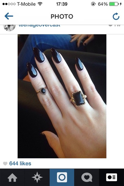 jewels ring black