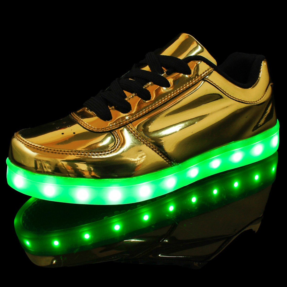 6d8f6b25c5d7 Buy LED Shoes USB Charging Gold  Silver Light Up Shoes Lighting ...