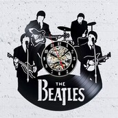 home accessory,wall clock,vintage clock,vinyl clock,home decoration,home decor,beatles wall clock,vinyl record clock,christmas,gullei