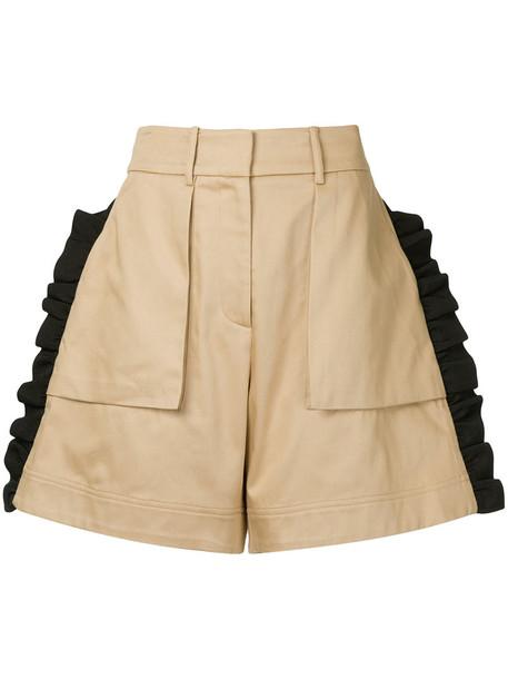 Public School shorts ruffle women cotton brown
