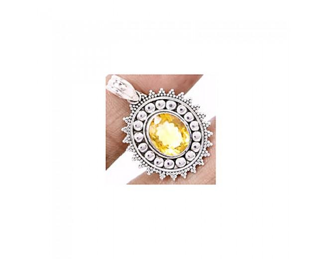 Handmade 925 sterling silver Citrine Pendant