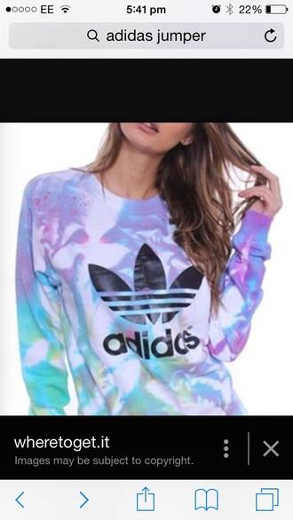 sweater tie dye adidas adidas sweater