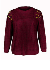 Sirenlondon — chill out with studs jumper