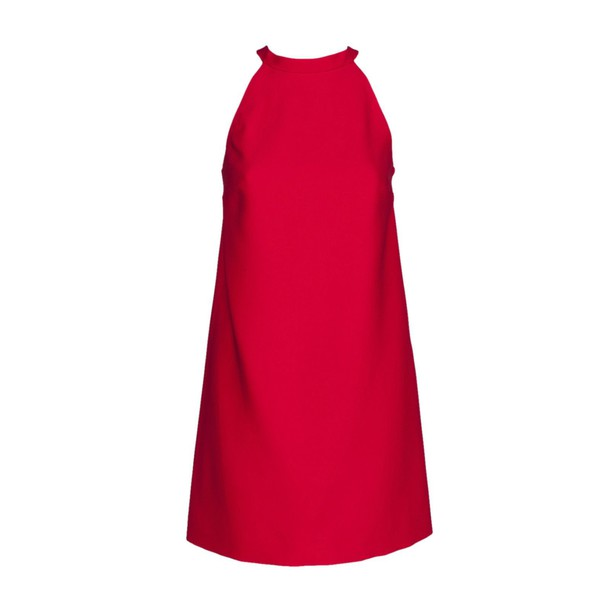 dress back red