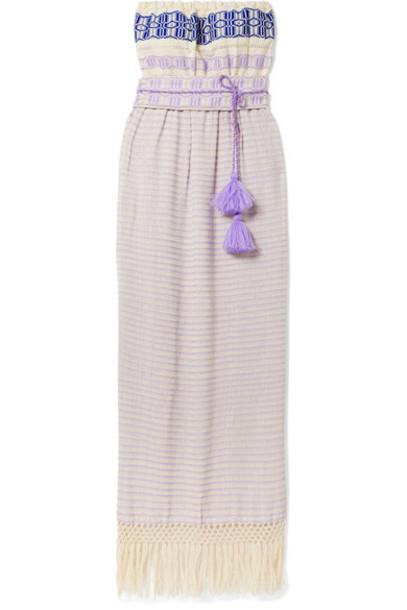 Jaline dress maxi dress maxi jacquard cotton lilac