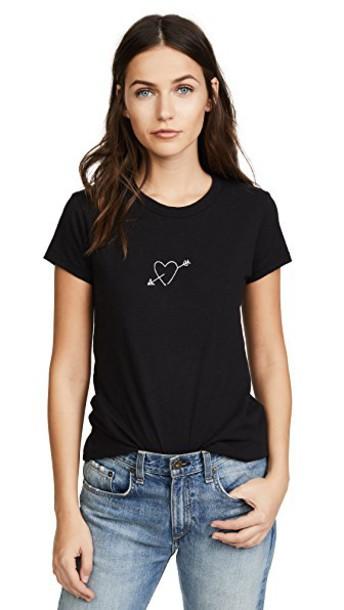 Rag & Bone/JEAN heart arrow black top