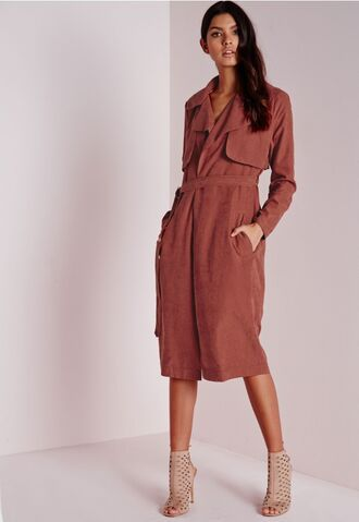 jacket trench coat rust brown coat fall outfits