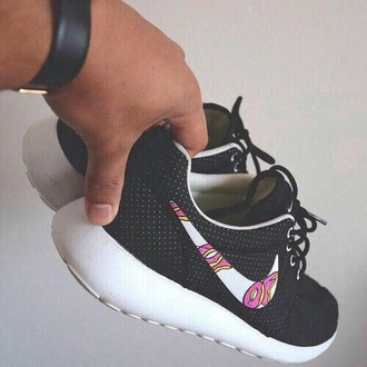 shoes of odd future nike black white donut