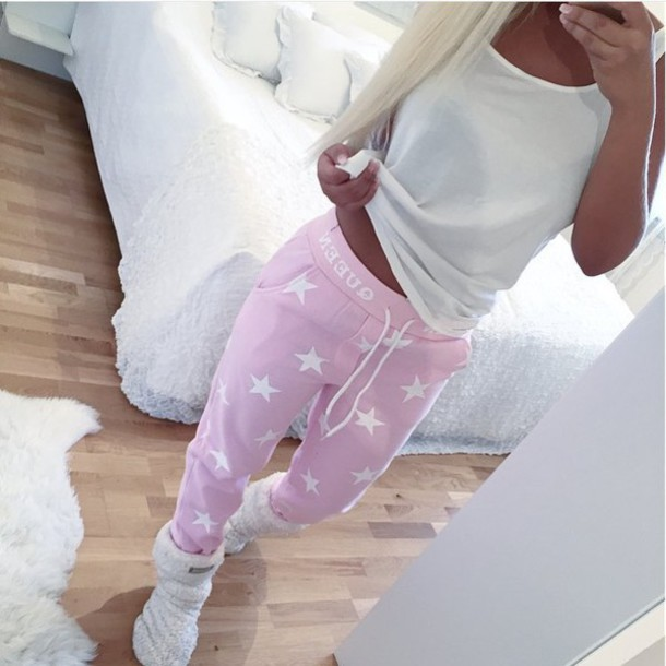 High waisted leather jogger pants