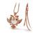 [grxjy5100347]Retro Rhinestone Angry Bird Pendant Necklace