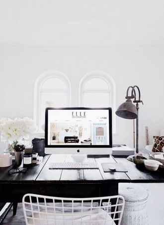 home accessory brown desk bedroom wood wooden desk hipster black and white