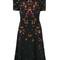 Givenchy - night pansy printed tea dress - women - silk/spandex/elastane/acetate/viscose - 36, black, silk/spandex/elastane/acetate/viscose