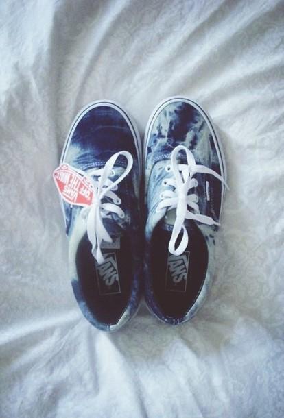 0c3ebc535cbb16 shoes vans sneakers tie dye hipster swag ombre bleach dye vans blue ocean  denim light blue
