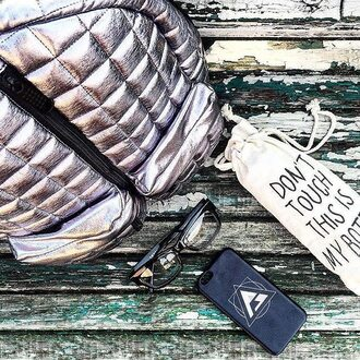 bag fusion clothing backpack quilted bag silver bag photography instagram summer quilted backpack silver backpack womens backpack womens wear hipster quilted silver phone cover glasses hippie glasses streetwear rucksack women accessories accessory