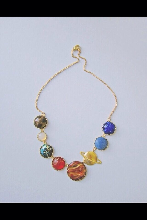 jewels solar system necklace