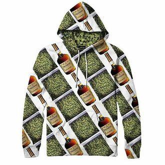 sweater henny hoodie dope swag trill alloverprint weed smoker 420 high hennesy iamdope
