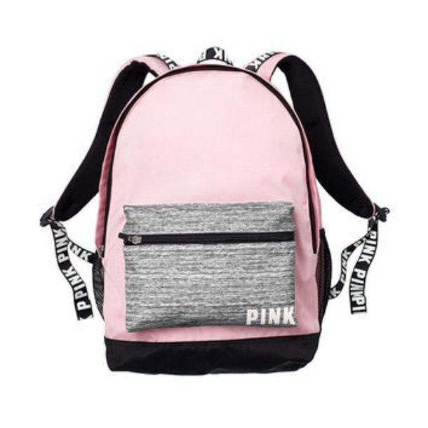 VICTORIA SECRET/'S PINK CAMPUS BACKPACK Marl Grey Morning Sky Blue NEW