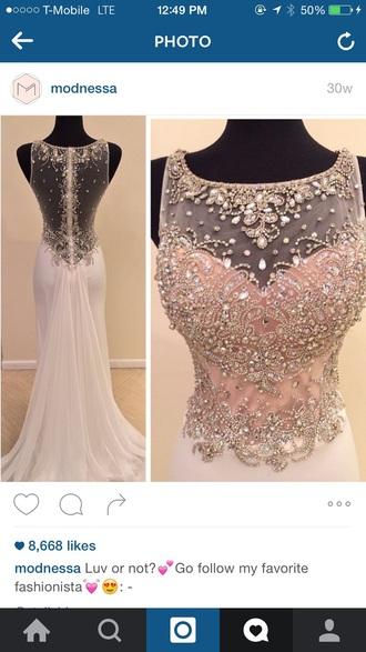 dress ivory prom dress
