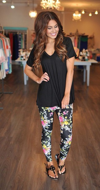 leggings blouse