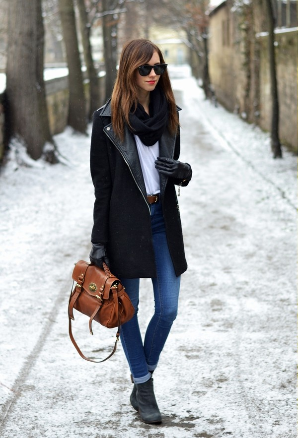 vogue haus t-shirt coat jeans shoes bag scarf sunglasses