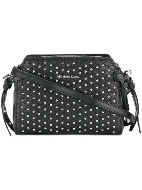 studded women bag messenger bag leather black